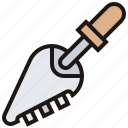 comb, construction, sawing, tool, trowel icon