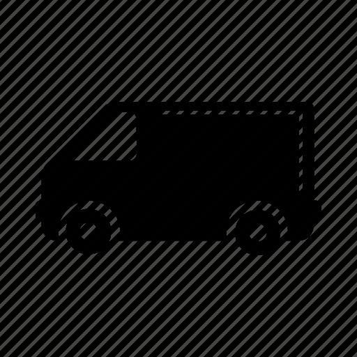 car, industry, road, transport, truck, van, vehicle icon