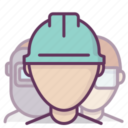 account, builder, construction, manager, professional, profile, worker icon