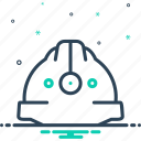 construction, hardhat, head, headgear, helmet, protection, safety icon
