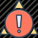alert, caution, dangerous, exclamation, notification, sign, warning mark