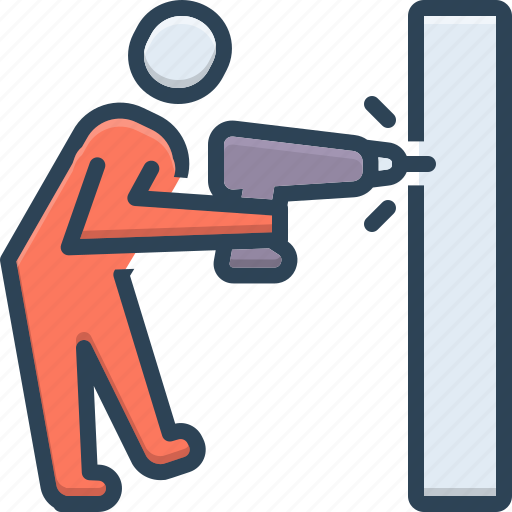 Construction, drill, drilling, geotechnic, geotechnical, investigation, work icon - Download on Iconfinder