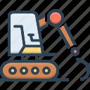 bulldozer, digger, equipment, excavating, excavator, machinery, mini