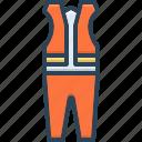 caution, cloth, clothing, construction, danger, mandatory, protective