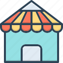 architecture, building, construction, home, house, roof, waterproof icon