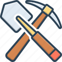 agriculture, dig, digging, entrenching, shovel, tool icon