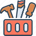 box, repairing, hand, tool, equipment, kit, toolbox icon