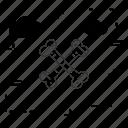 bones, cross, skeleton icon