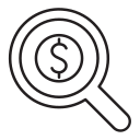 consultation, money, finding, searching, budget icon