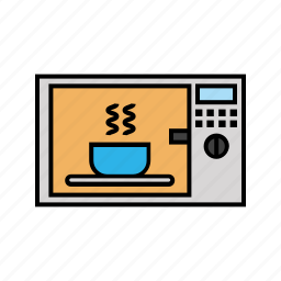 consumer electronics, cook, cooking, kitchen, microwave icon