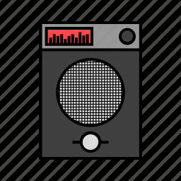 audio, consumer electronics, music, sound, speaker icon