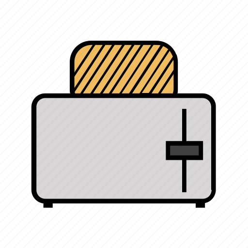 consumer electronics, cook, cooking, kitchen, toaster icon