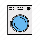 consumer electronics, machine, washing icon