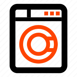 bathroom, laundry, laundry washer, wash, washer, washing machine icon