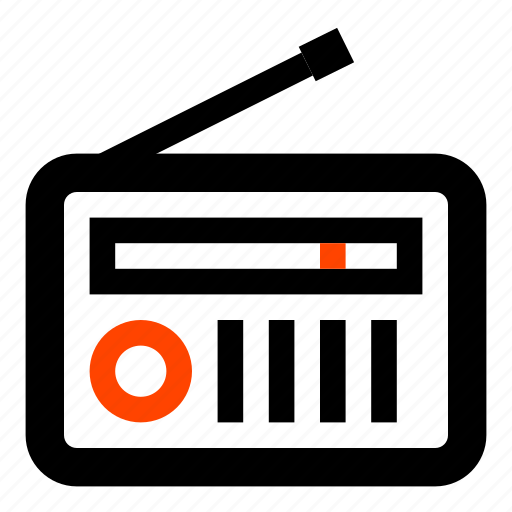electronic, fm radio, news, radio, receiver, vintage, volume icon