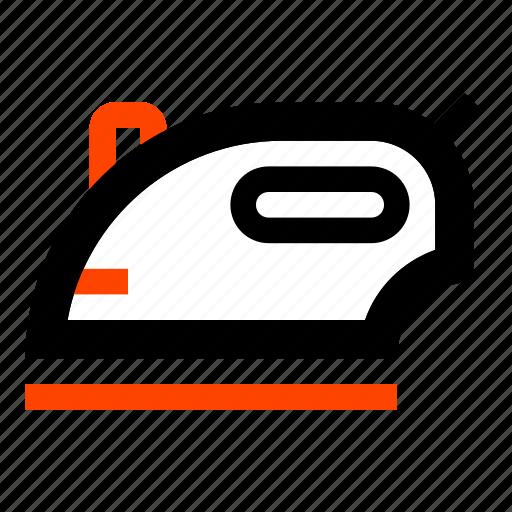 clothes iron, household, iron, ironing, steam iron, wrinkle icon