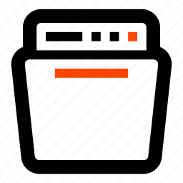 appliance, dish washer, dishwasher, electronics, kitchen, washer icon