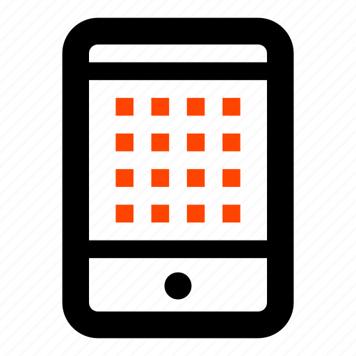 application, menu, mobile, phone, screen, smartphone icon