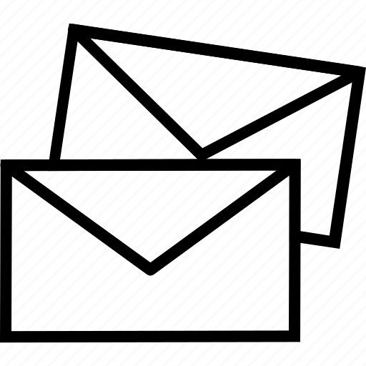 envelops, letters, mails, messages, news icon
