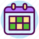 calendar, contact, date, day, event, month, schedule icon