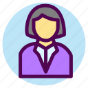 avatar, contact, customer, female, service, user, woman icon