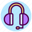 communication, contact, contacts, customer service, earphone, headphone icon