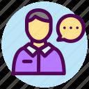 contact, customer, male, service, talking, avatar