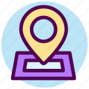 contact, direction, location, map, navigation, pin icon
