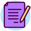 contact, note, pencil, text, write, writing icon