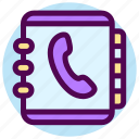 book, communication, contact, list, phone, phonebook, telephone icon