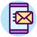 contact, email, messege, send, sending, smartphone icon