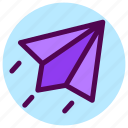 contact, letter, mail, message, paperplane, send icon