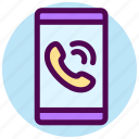 call, calling, communication, contact, smartphone, telephone icon