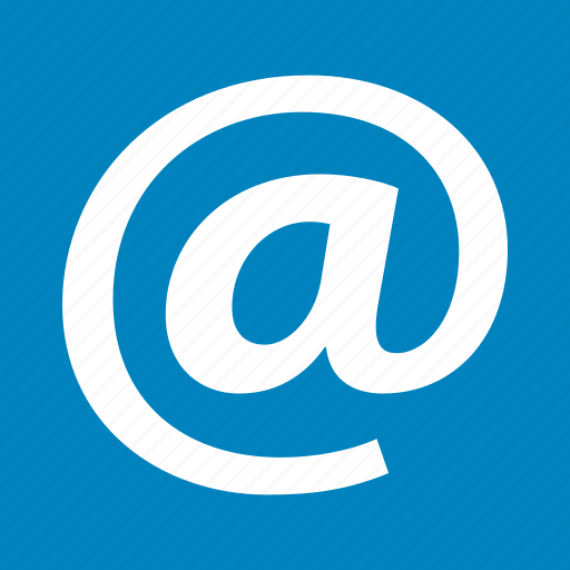 at, communication, email, mail, message, newsletter, send letter icon