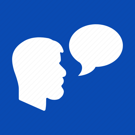 chat, comment, message, speak, speech, talk, voice icon