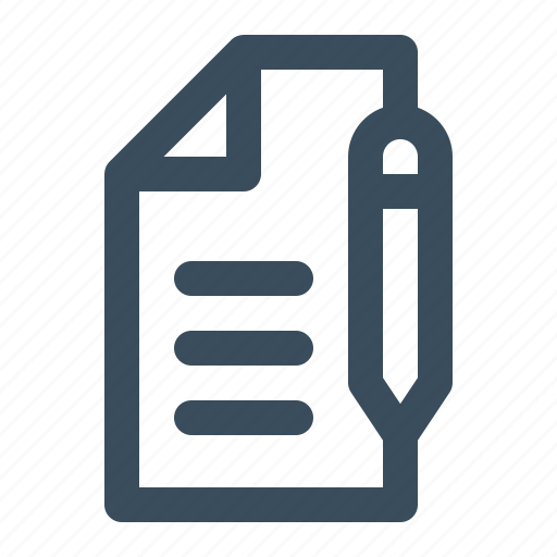 document, letter, mail, write icon