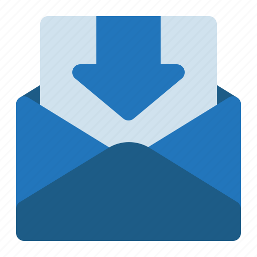 email, inbox, incoming, mail, message icon