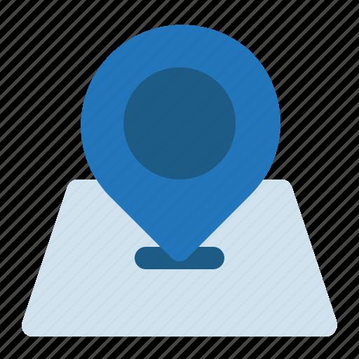 gps, location, map, navigation, sticky icon