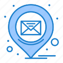 email, location, message, pin