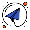 email, paper, plane, send