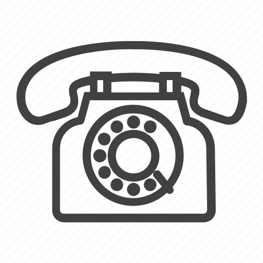 call, communication, contact, phone, telephone, us, vintage icon