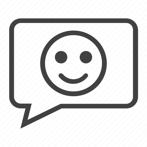 chat, comment, communicate, dialog, emotion, message, smile icon