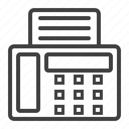 business, document, fax, machine, office, paper, printer icon