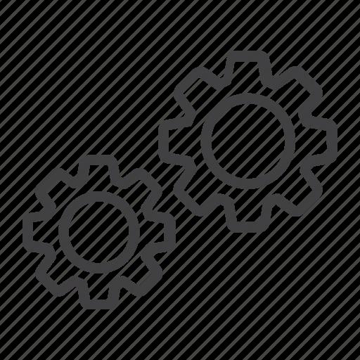 cog, cogwheel, gear, internet, mechanism, setting, web icon