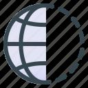 world, half, location, map, pin, navigation, gps