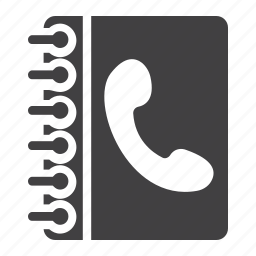 address, book, call, contact, internet, phone, telephone icon