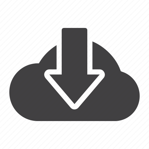 cloud, communication, computer, computing, data, download, web icon