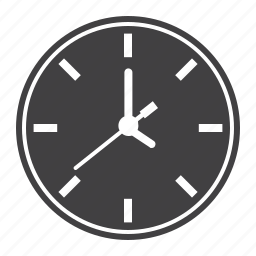 clock, hour, internet, office, time, watch, web icon