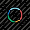 circle, graph, info icon