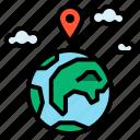 gps, location, world icon